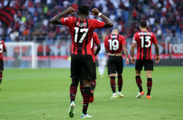 AC Milan vs Lazio Ibrahimovic Cetak Gol, Il Rossoneri Menang Mudah - Rafael Leao (@iF2is)