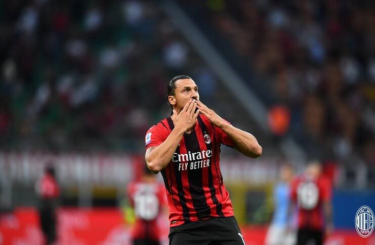 AC Milan Vs Lazio Zlatan Ibrahimovic Cetak Gol, Il Rossoneri Menang Mudah (@acmilan)